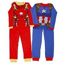 Boy's Captain America Civil War 4-Piece Cotton Pajama Set - 10