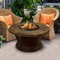 American Fire Products San Simeon Chat Height Round Tile Top Gas Fire Pit - AFP-SAN-RDSLATE-42