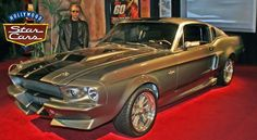 'Eleanor', Mustang Shelby GT 500 Driven by Nicolas Cage in Gone in 60 Seconds. The Hollywood Star Cars Museum Collection in Gatlinburg, Tennessee.