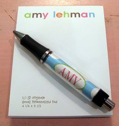 Personalized Name Pad by preppypapergirl on Etsy, $10.00