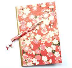 Petit carnet de note en papier japonais rouge (washi) : Carnets, agendas par paper-art