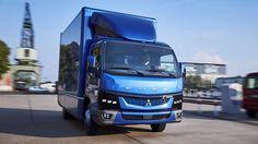 Trata-se do primeiro camião totalmente eléctrico. A nova Fuso eCanter será produzida em Portugal