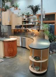 Image result for curved maple kitchen