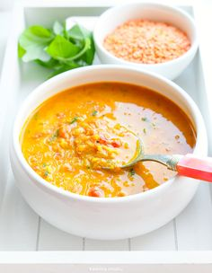 Soup with lentils and tomatoes - Fit Best Soup Recipes, Diet Recipes, Cooking Recipes, Healthy Recipes, Food Inspiration, Food Porn, Good Food, Easy Meals, Food And Drink