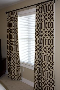 fretwork curtains | Reserved for Kristen / Imperial Trellis Drapery Panels / Java and ...