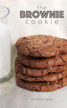 Chocolate Brownie Cookies by FamilySpice.com