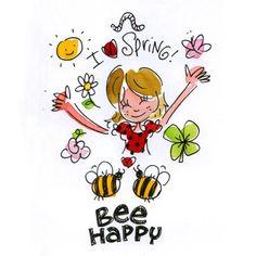 I love spring Bee happy