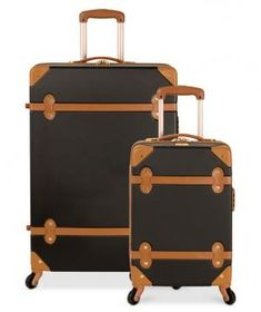 Diane von Furstenberg Adieu Hardside Spinner Luggage - Luggage Collections - luggage & backpacks - Macy's Bridal and Wedding Registry Best Travel Luggage, Travel Bags, Cool Luggage, Kids Luggage, Travel Wear, Vintage Steamer Trunk, Best Carry On Bag, Luggage Backpack, Travel Backpack