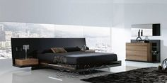 Modern bedroom furniture from top Italian bedroom furniture designers to outfit a contemporary bedroom with style, from modern platform beds and mattresses,. Modern Bunk Beds, Modern Murphy Beds, Modern Loft, Platform Bedroom, Modern Platform Bed, Black Platform Bed, Platform Beds, Bedroom Bed Design, Bedroom Sets