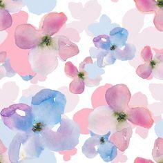 ダウンロード - 現代水彩画の花の背景パターン — ストック画像 #48216611
