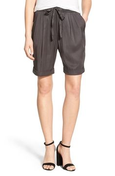 James Perse Tie Waist Drape Shorts available at #Nordstrom