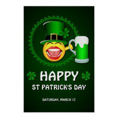 >>>Hello          Happy St Patrick's Day Poster           Happy St Patrick's Day Poster you will get best price offer lowest prices or diccount couponeHow to          Happy St Patrick's Day Poster Here a great deal...Cleck Hot Deals >>> http://www.zazzle.com/happy_st_patricks_day_poster-228177195265843277?rf=238627982471231924&zbar=1&tc=terrest