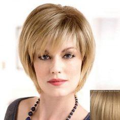 Women's Fluffy Trendy Side Bang Short Human Hair Wig