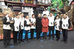 Our team from Chengdu arrives in New York for the Macy's Thanksgiving Day Parade. Dressed in Panda inspired clothing they are happy to represent Chengdu as home of the Giant Panda!