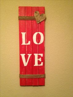 Pallet Sign. Thanks to my neighbor for giving me a pallet that is in great condition! This is one of the MANY ideas that I have for it. :)