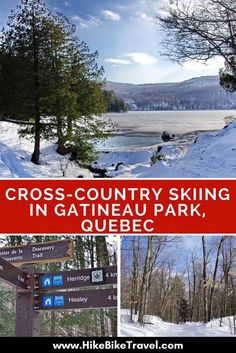 Cross-country skiing in Gatineau Park, Quebec - with warm-ups in beautiful heritage log cabins #GatineauPark #Quebec #crosscountryskiing #skiing #winterfun