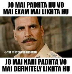 Sahi hai!! Very Funny Memes, Funny School Jokes, Funny Jokes, Hilarious, Funny Minion Pictures, Funny Photos, Student Jokes, Student Life, Whatsapp Fun