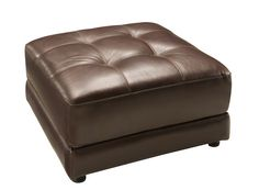 Clark Leather Ottoman   Ottomans   Raymour and Flanigan Furniture