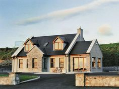 Dormer Bungalow (ref in Spanish Point, County Clare Dormer House, Dormer Bungalow, Modern Bungalow Exterior, Bungalow House Design, Bungalow Designs, Bungalow Ideas, Bungalow Extensions, House Extensions, Pole Barn House Plans