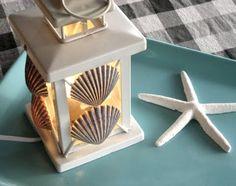 summer lantern.  Love the shells