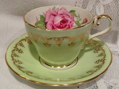 English, Vintage AYNSLEY Fine Bone China Tea Cup & Saucer.