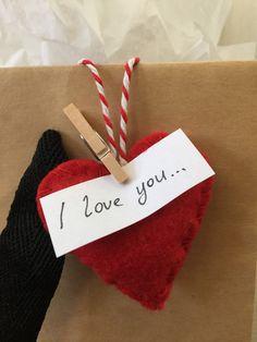 Tiny heart. Creative decoration, message holder, party favour, wedding favour