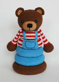 ** This is a crochet pattern, NOT the finished toy!** Measurements: approx. 24 cm / 9.4 high, made with hook size 2.5 Skill level: medium