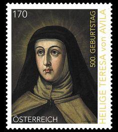 Stamps of Austria: Teresa of Avila Anniversary (2015)See article on www.philatelicdatabase.com.