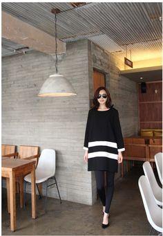 Black stripe dress  Korean-Asian-Fashion-Shopping-Mall-000-15093.jpg 577×834픽셀