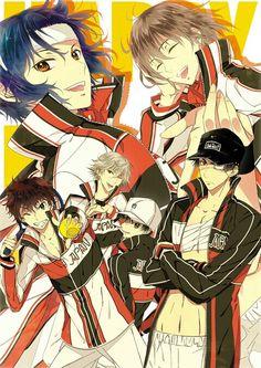 Seigaku (Youth Academy) - Tennis no Ouji-sama Prince Of Tennis Anime, My Prince, Anime Art, Animation, Illustration, Artwork, Image, Fuji, Decoupage