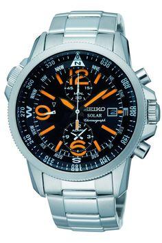 Reloj Seiko Solar de hombre con cronógrafo y alarma SSC077P1 - Joyería Relojería Miguel