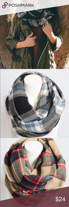 New Arrival Fall Ready Infinity Scarf Two colors . This listing is for the black Combo . This is a best selling style . Nwot 100% acrylic soft and can be worn as an infinity style or long draped shown on second model . Vivacouture Accessories Scarves & Wraps