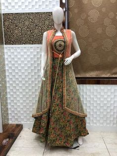 Floral indowestern gown