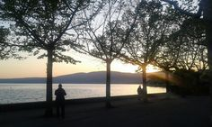 #Italy, the lake of Trevignano at #sunset