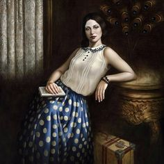 """Catherine Abel- """"Paintings combining the stylised geometry of the Art Deco & Art Nouveau period with the clarity of the Italian Renaissance Masters."""" http://www.catherineabelstore.com/ https://www.facebook.com/ArtistCatherineAbel/"""