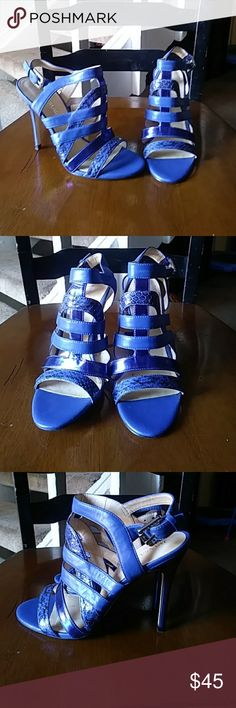 IVANNA TRUMP HEELS Blue amazing gorgeous heels  excellent condition  6 M Ivanka Trump Shoes Heels