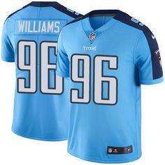 Men's Nike Tennessee Titans #96 Sylvester Williams Elite Light Blue Rush NFL Jersey