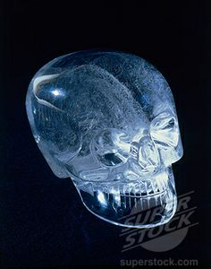 Aztec Crystal Skull. Pre-Columbian. Museum of Mankind, London, England