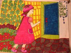 He will open the door! Painting by Helen Cofone