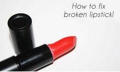 How to Fix A Broken Lipstick.