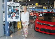 Pamela Keith at the Dueck Auto Group, proud to show their support