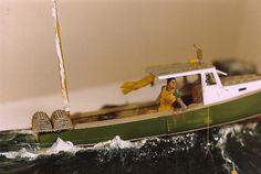 A DAY'S BOUNTY - Closeup Detail, Wood Sculpted Diorama