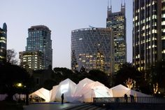 JNBY and COTTON USA fashion show exhibition tent in Shanghai by  HHD_FUN architects