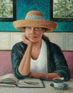 Morning reading / Lectura matinal (ilustración de Kathleen Ward)