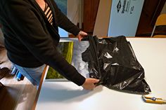 I like this idea but not into the garbage bag or the reused boxes. Fool Proof method for shipping Art
