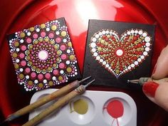 How To Paint Dot Mandalas Dollar Tree Valentines Day Gift EASY follow step by step Tutorial - YouTube