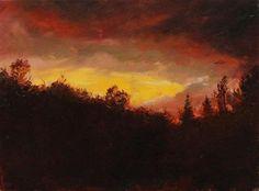 "Daily Paintworks - ""atardecer"" - Original Fine Art for Sale - © Marco Vazquez"