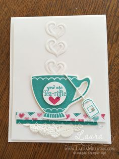 """Laura Milligan, Stampin' Up! Demonstrator - I'd Rather """"Bee"""" Stampin!: A Nice Cuppa"""