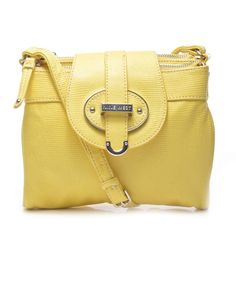 NINE WEST   Zipster Cross-Body in Yellow - - Style36