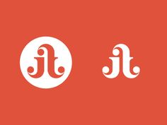 This interested me because these two letters form my initials (TJ) when flipped. This is giving me ideas to make a logo for myself. Two Letter Logo, Letter Form, Brand Identity Design, Branding Design, Self Branding, Corporate Branding, Logo Branding, Round Logo Design, Logo Process